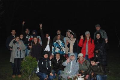 Организатори, участници и съмишленици в UFO акцията на CON.TEMPO 4 <br /><tt>Източник: С. Велев</tt>