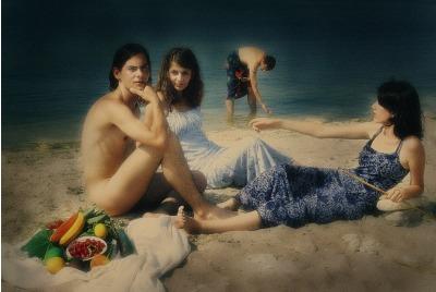 Йотова, Закуска на плажа/по Мане/, Процес-пространство <br /><tt>Източник: Интернет</tt>