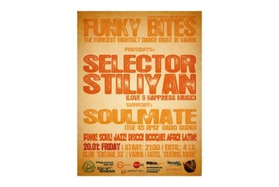 FUNKY BITES with special guest SELECTOR STILIYAN! (support by SOULMATE) <br /><tt>Източник: Internet</tt>