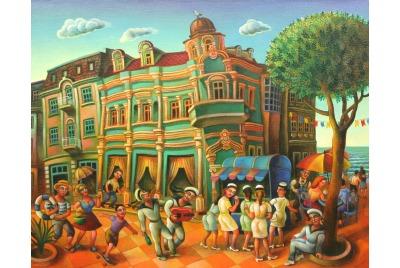 "Анета Яламова, Пейзаж от Варна <br /><tt>Източник: Галерия ""Папийон""</tt>"