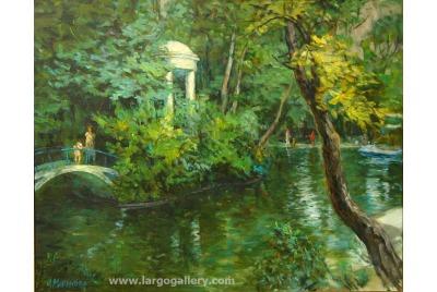 """Лора Маринова, Край езерото <br /><tt>Източник: Галерия """"Ларго""""</tt>"""