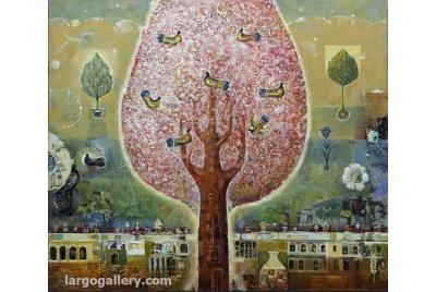 """Валери Ценов, Тайните градини <br /><tt>Източник: Галерия """"Ларго""""</tt>"""