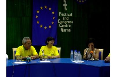 Пресконференция за бразилския фестивал <br /><tt>Източник: В. Димитров</tt>