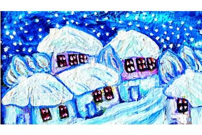Драга Дюлгерова, Снежна приказка <br /><tt>Източник: Дом на архитекта-Варна</tt>