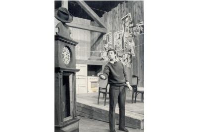 """Обърни се с гняв назад""1967/68, Продан Нончев <br /><tt>Източник: ДТ ""Ст.Бъчваров""</tt>"